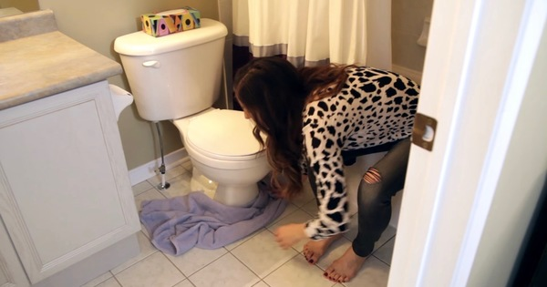 The Easy Way To Unclog A Toilet Without A Plunger.