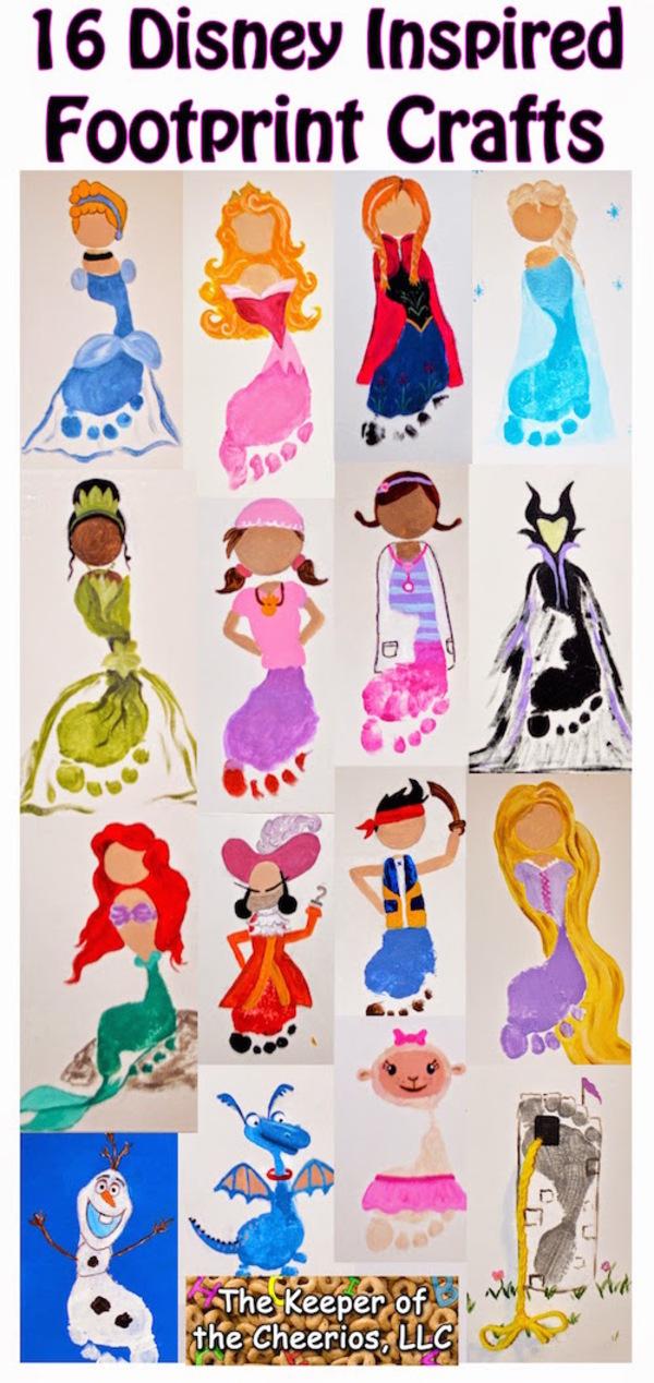 Infant Footprint Art Ideas