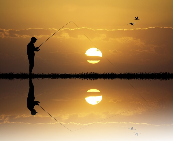 8742934-fisherman-at-sunset