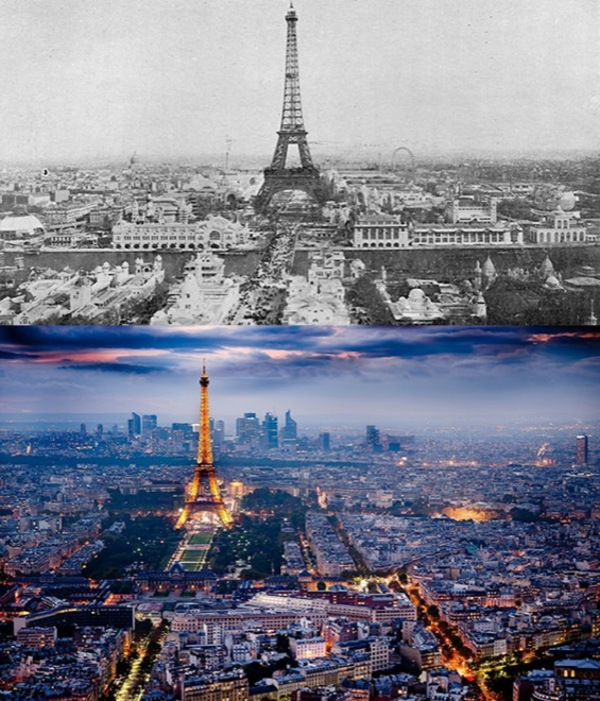Before and after- seeing how much the world has changed in the last century will blow your mind! - Just something (creative) (14)