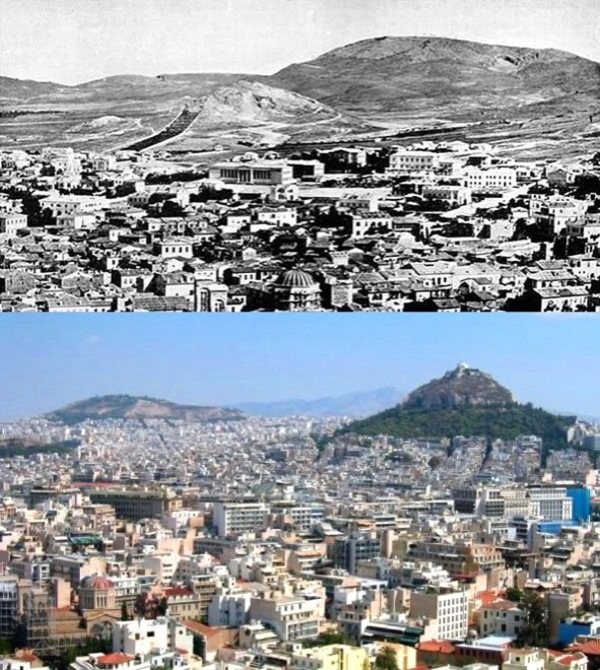 Before and after- seeing how much the world has changed in the last century will blow your mind! - Just something (creative) (8)