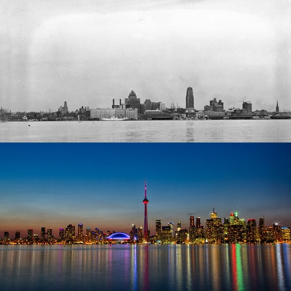 Before and after- seeing how much the world has changed in the last century will blow your mind! - Just something (creative) (9)