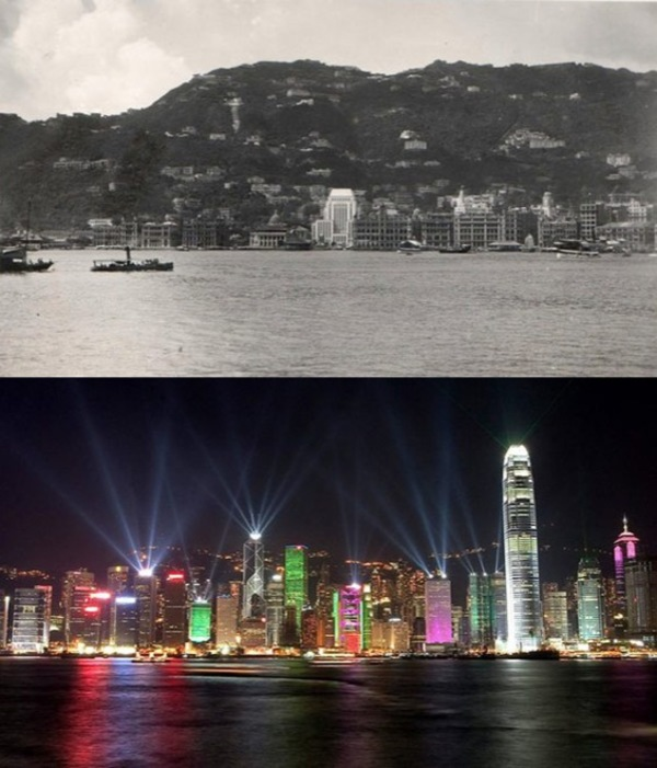 Before and after- seeing how much the world has changed in the last century will blow your mind! - Just something (creative) (11)