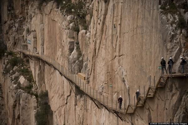 SPAIN-TOURIST-HIKING-CAMINITO DEL REY