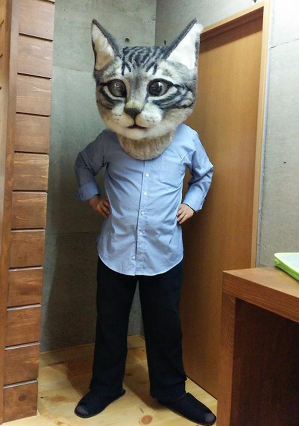 cat-head-mask-needle-felt-housetu-sato-japan-school-wool-art-1