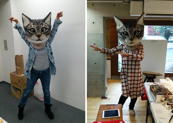 cat-head-mask-needle-felt-housetu-sato-japan-school-wool-art-2