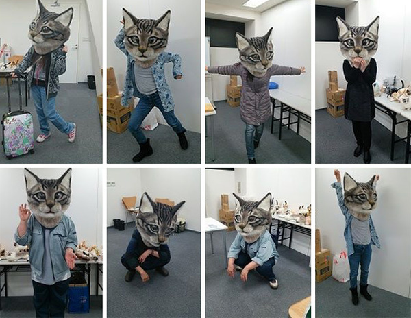 cat-head-mask-needle-felt-housetu-sato-japan-school-wool-art-3
