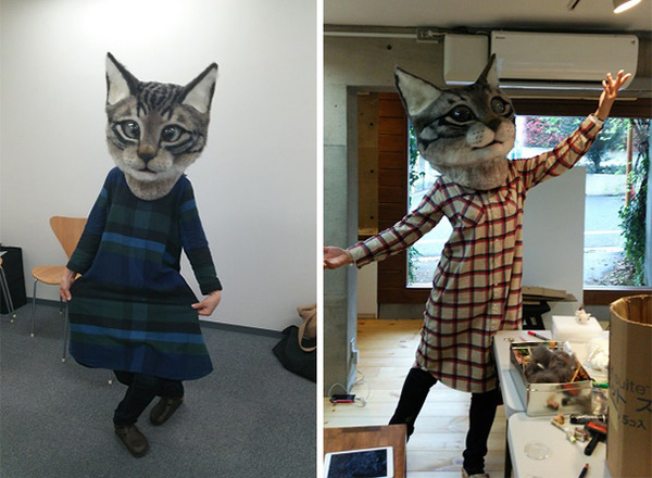 cat-head-mask-needle-felt-housetu-sato-japan-school-wool-art-4