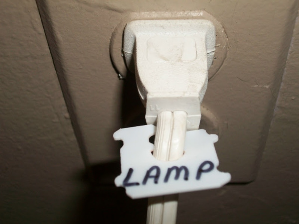 Not sure which cord is attached to which appliance? Label it!