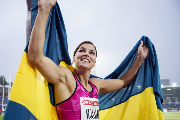 160616 Susanna Kallur, Sverige jublar efter loppet pŒ 100m hŠck under Stockholm Bauhaus Athletics den 16 juni 2016 i Stockholm. Foto: Erik Simander / BILDBYRN / Cop 201