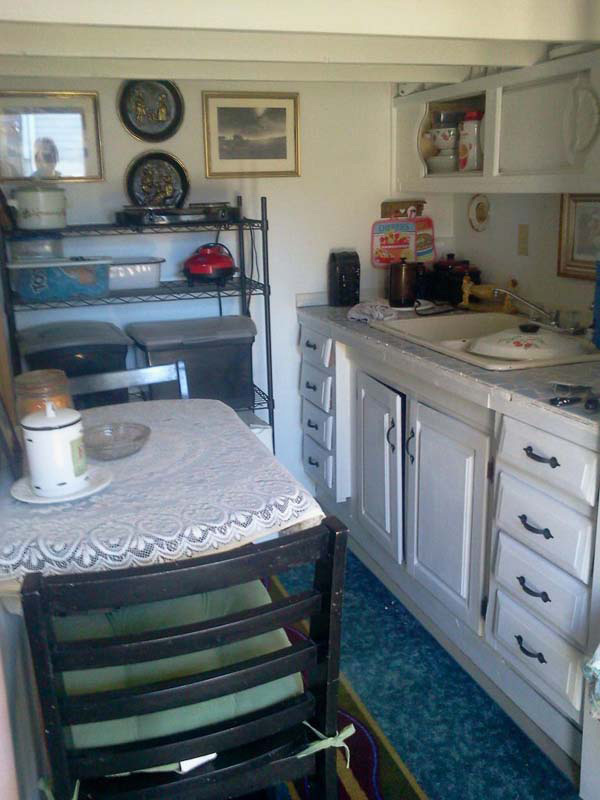 Grandmother Gives Her House Away And Transforms Garden Shed Into Cozy Home