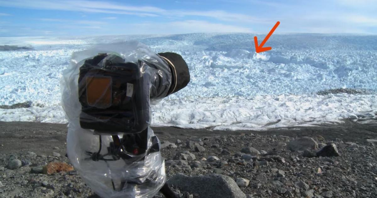 Man points camera at ice – seconds later he captures the impossible on film